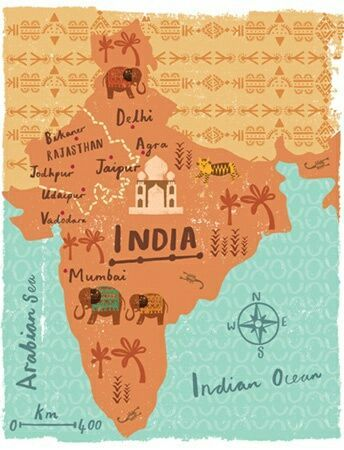 mapa-turístico-India