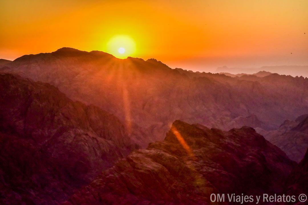 atardecer en el Sinaí en Egipto