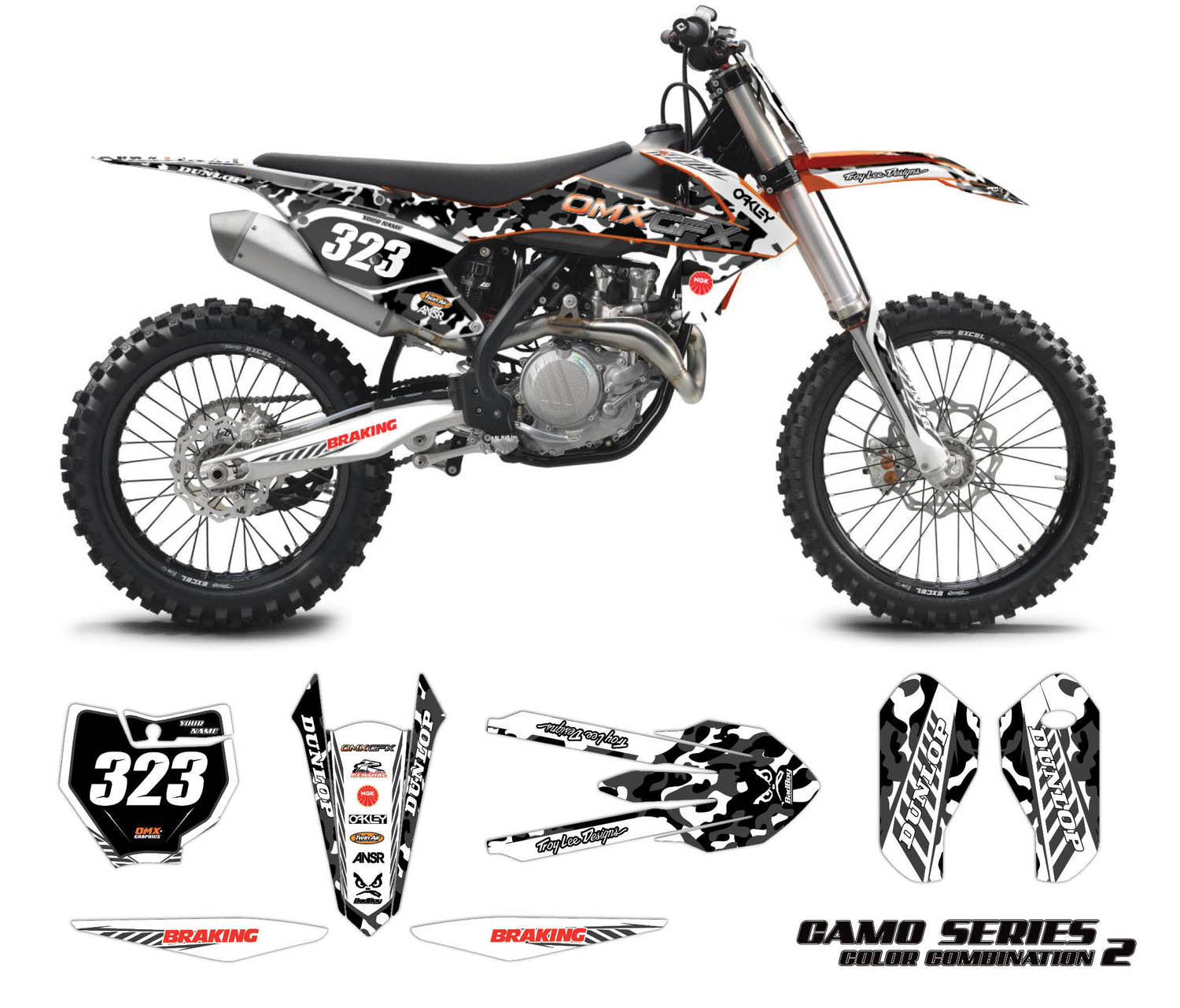 KTM mx graphics - Camo Grey