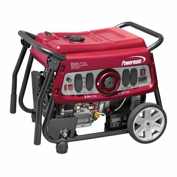 Powermate Dual Fuel Portable Generator