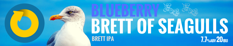 Brett of Seagulls Blueberry Tile