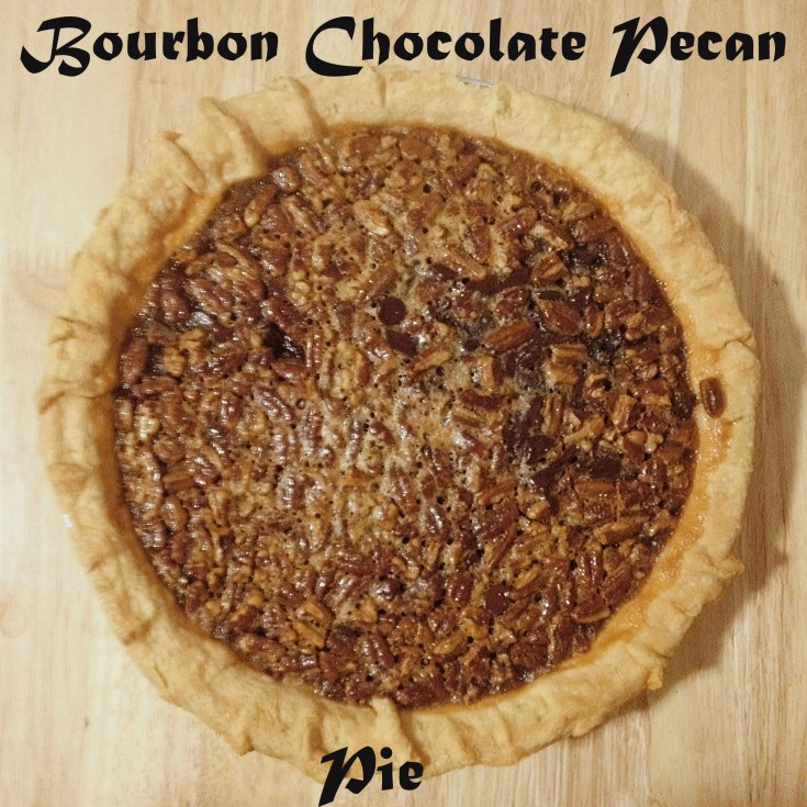 Pecan Pie With Chocolate Chips And Bourbon