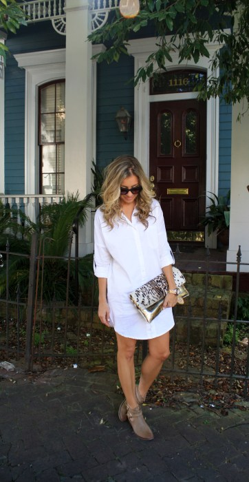 New Orleans, Garden District, Magazine Street, Travel, Shirt dress, boots, casual style