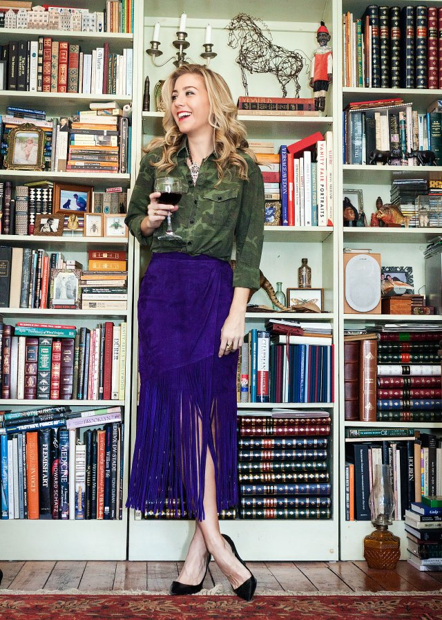 Fringe, Tamara Mellon, 70s, Camo, What to wear, Dinner Party, Style Blogger, Fashion Blogger