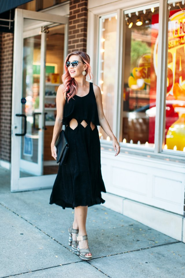 Pink hair, OOTD, LBD nyc-fashion-blogger-impossibly-imperfect-0573