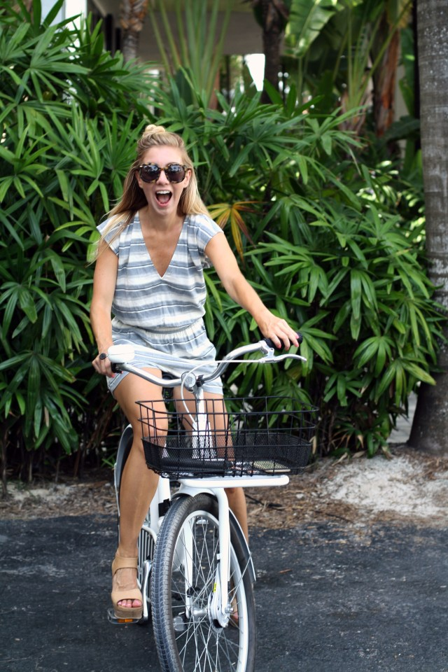 bike riding, vacation, travel, miami, madewell, style blogger