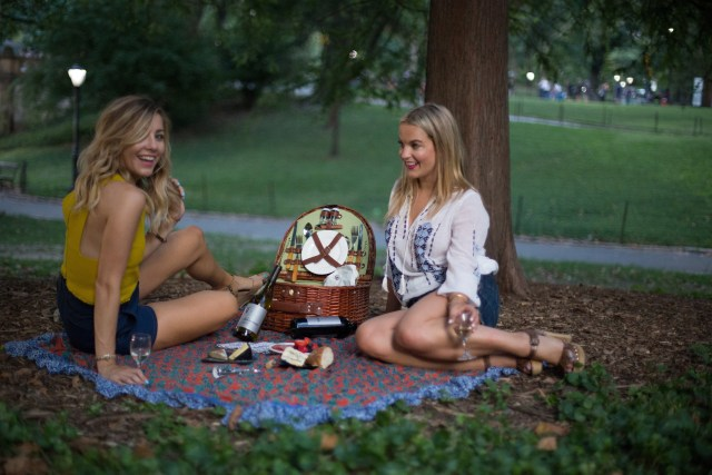 Central Park, Picnic, New York, wine, fashion bloggers, wine and cheese, Cute