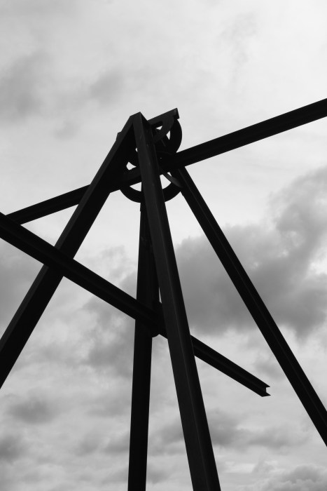 Mark di Suvero, Storm King, Art, Sculpture, Art Center, Roadtrip, NYC, Daytrip, Impossibly Imperfect, black and white