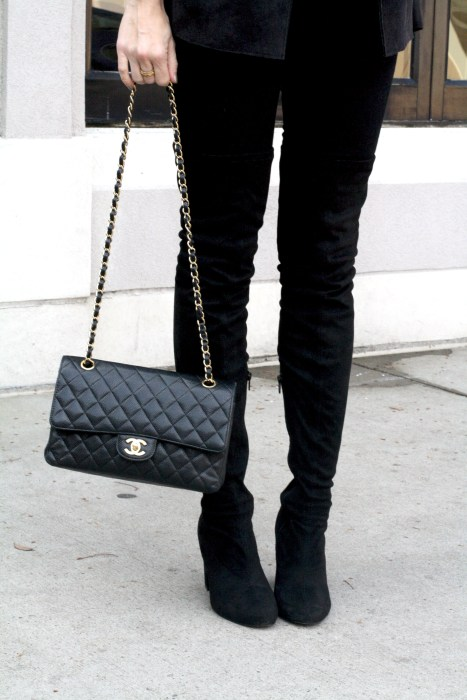 OOTD, What to wear, Casual, Chanel, OTK Boots, Dallas Blogger, street style, OTKboots