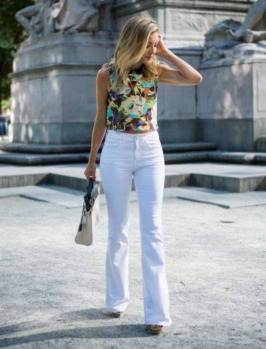 Impossibly Imperfect, White Jeans, How to wear, NYC, Street Style, Zara, Hermes, columbus circle