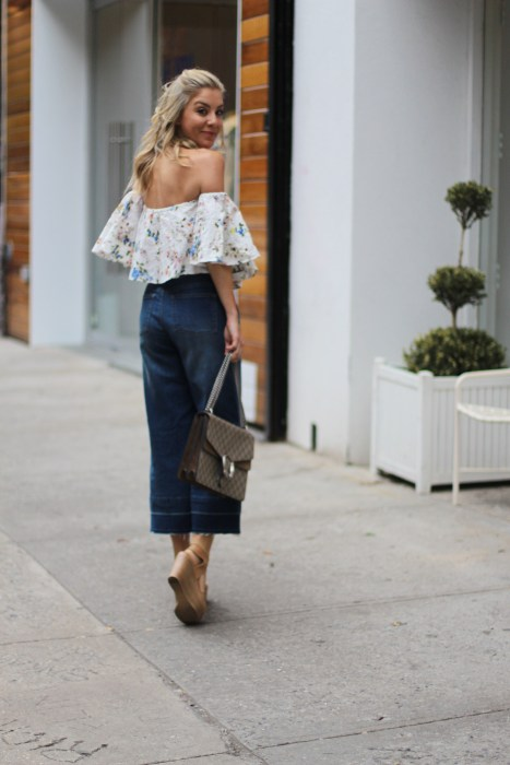 OTS, How to wear, SoHo, proportion, OOTD, Zara, Culottes, Denim, Gucci, Impossibly Imperfect, fave