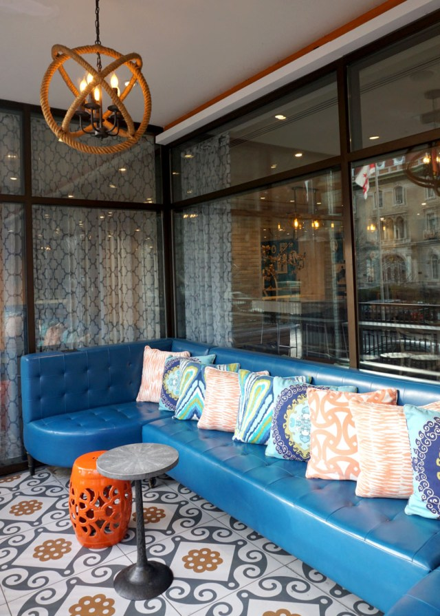 Embassy Hotel, Washington DC, Luxury Hotel, Preppy chic. Patio