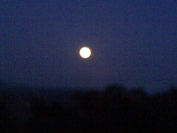 A big, bright full moon over the Santa Monica Mountains from Malibu Road was a moon gazers delight
