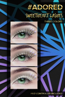 #adored sweetheart lashes lilac