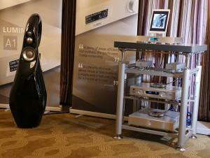 Artesania Audio rack in Lumin's room at CES 2016