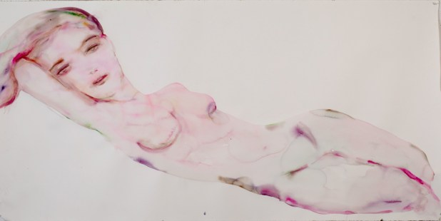 """""""L'Amour, Comp 03"""" original water color, 90"""" x 45"""" by Kim McCarty"""