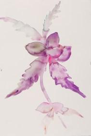 """""""Le Fleur, Comp 01"""", original water color, 24"""" x 18"""" by Kim McCarty"""