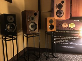 Graham Audio static display with multiple finishes to choose from