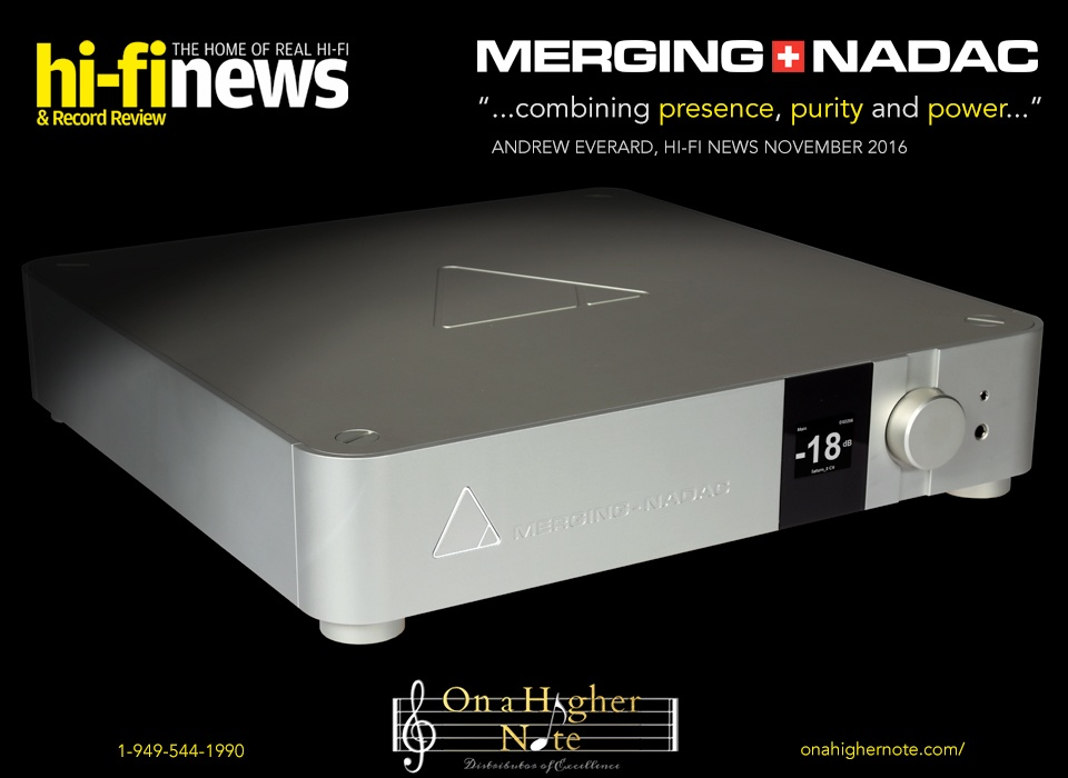 Hi-Fi News Merging+NADAC review November 2016
