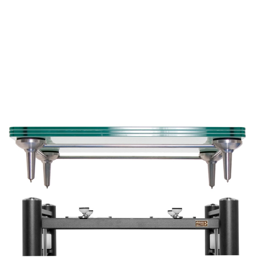 artesania treated glass turntable platform