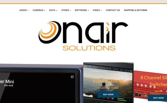 OnAir webstore slider image