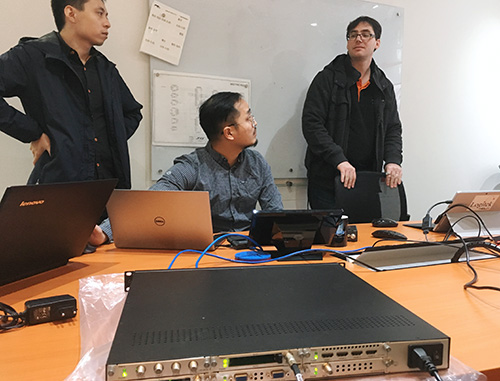 Brown Lin from WellAV visits OnAir Solutions