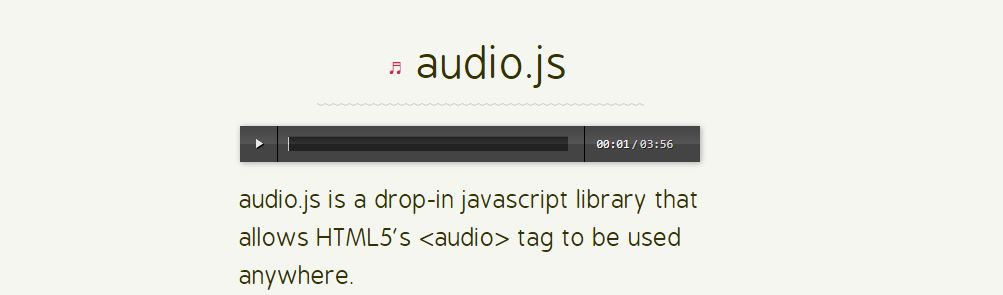 Audio.js - Best JavaScript Audio Libraries