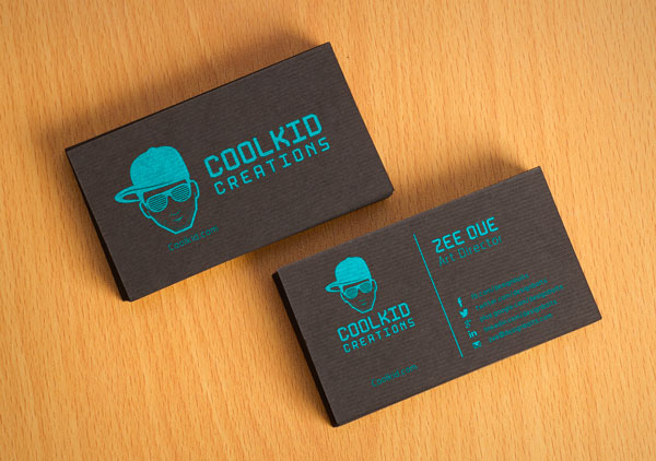 Black Textured Business Card Design