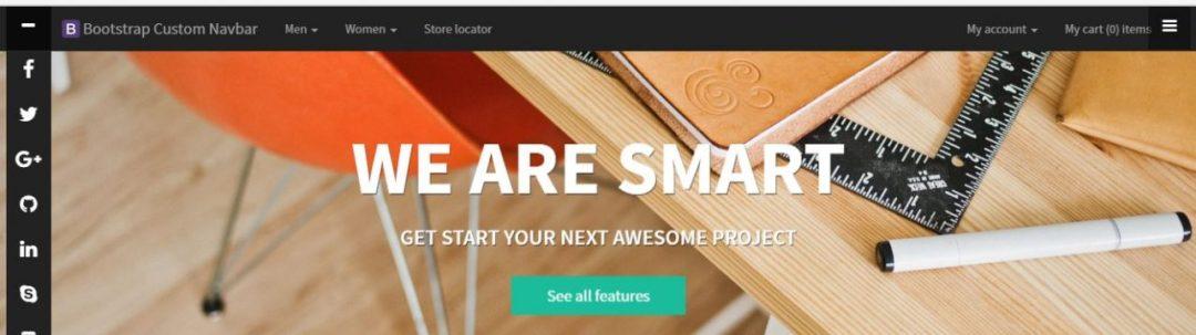Bootstrap Custom MegaMenu Navbar