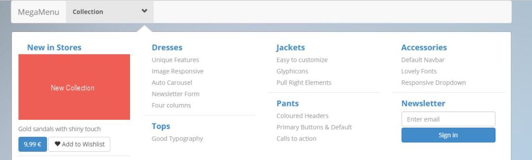 Bootstrap Mega Menu - Best Responsive Bootstrap Navigation Menus