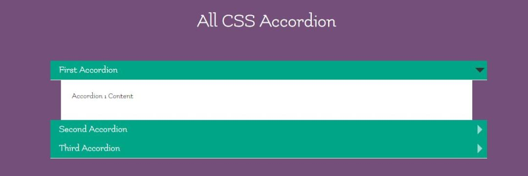 CSS Accordian Tab