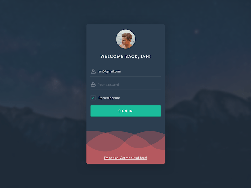 Daily UI 001 - Material Design Login UI By Víctor Arenas