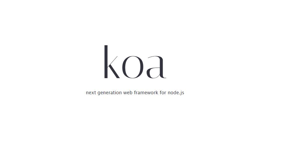 KOA - Node.js Frameworks