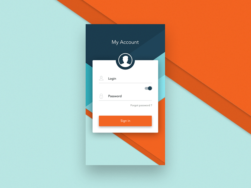 Login - Android App By Michal Parulski