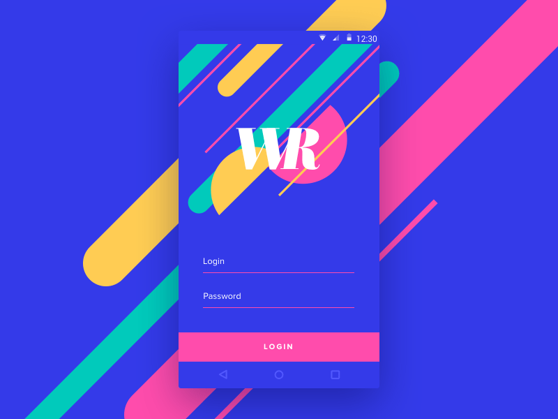 Login By Vladimir Gruev  - Material Design Login And Signup Forms