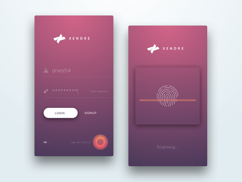 Login Screen with Touch ID By Dinesh Shrestha