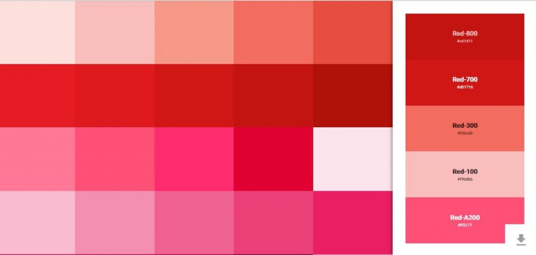 Material Design Inspired Color Picker