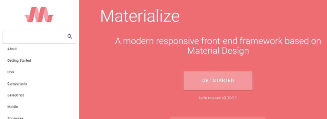 Materialize - Material Design Front-end Framework