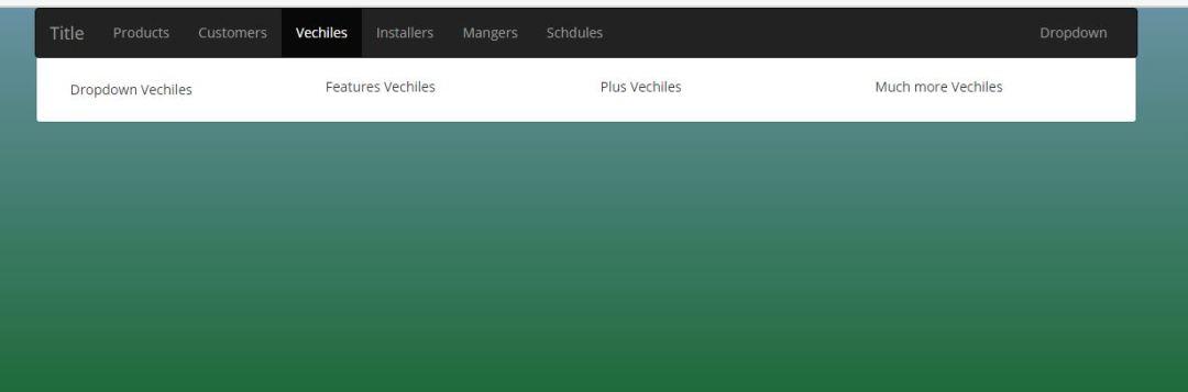 Mega menu with on mouse hover sub-menu
