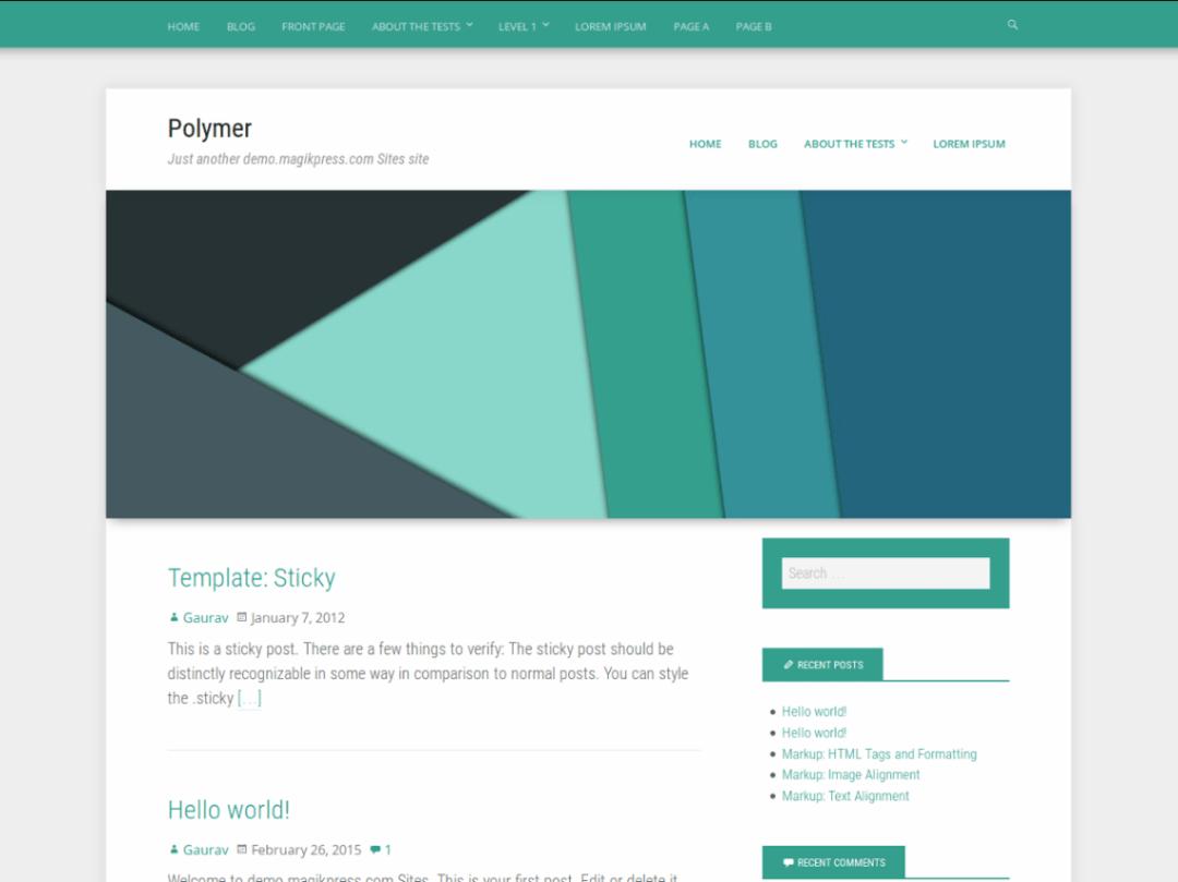 Polymer WordPress Free Theme