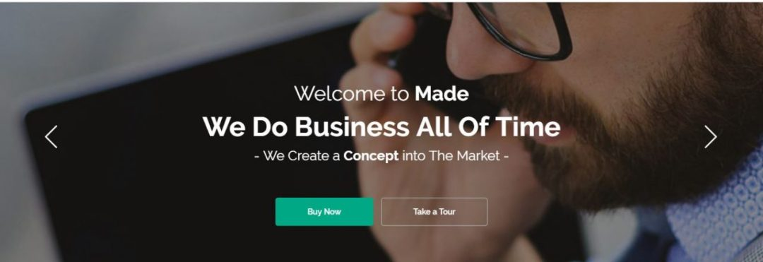 Responsive slider for business