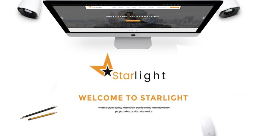Starlight Corporate Portfolio PSD Template-Freebie