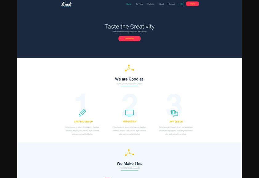 Bondi - PSD Landing Page