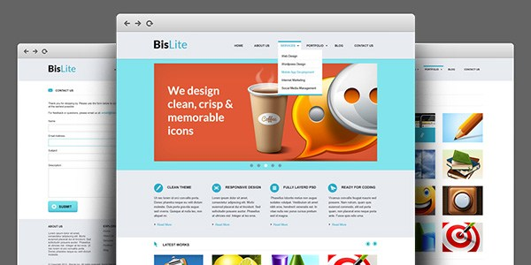 Business Website PSD Templates: BisLite