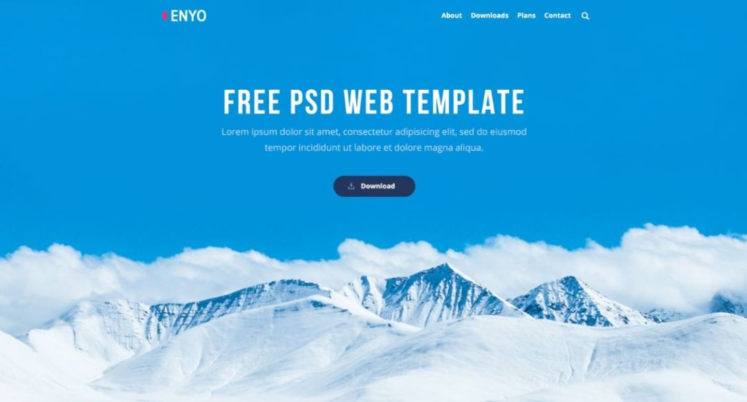 Enyo PSD Template