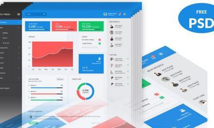 30 Free PSD Admin Dashboard Template Design