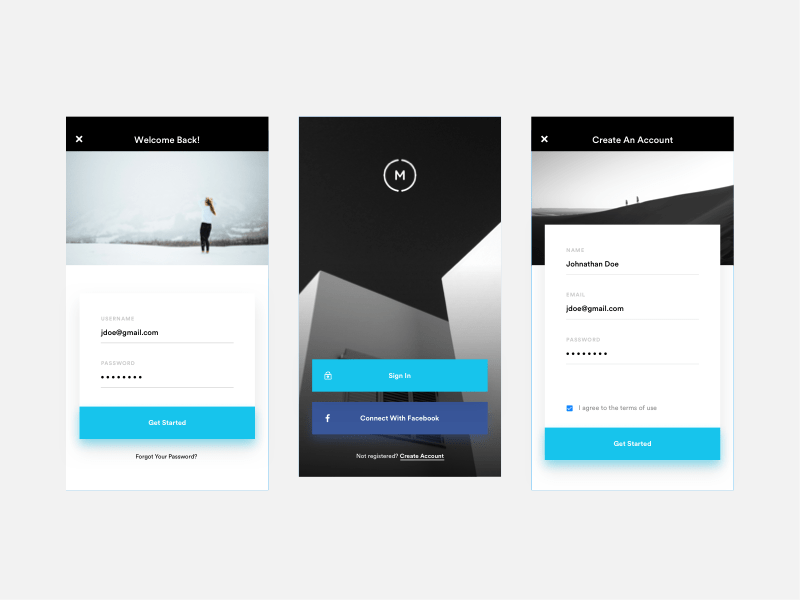 Mobile Sign Up / Login By Nainoa Shizuru