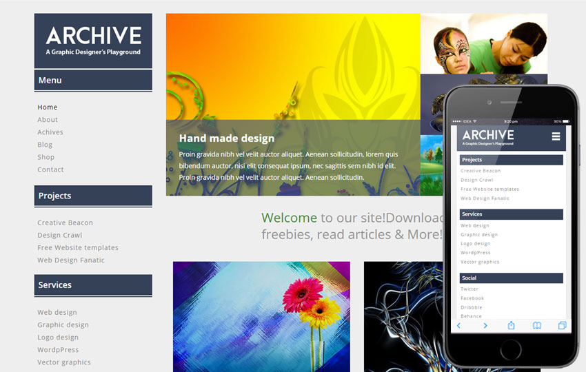 Archive Responsive Web Template
