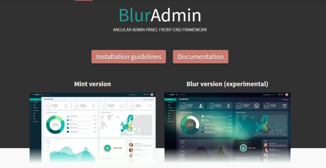 BlurAdmin - Angular Admin Panel Front-end Framework