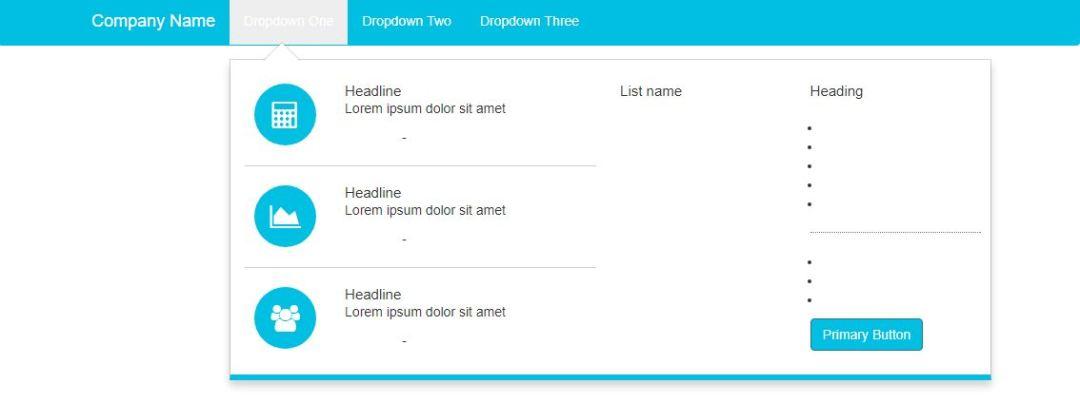 Bootstrap Dropdown Animated Menu
